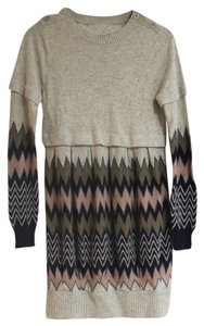 Juicy Couture Sweater Buttons Wool Warm Cashmere Dress
