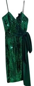 Alyce Paris Green Emerald Prom Formal Sequin Sequined Dress