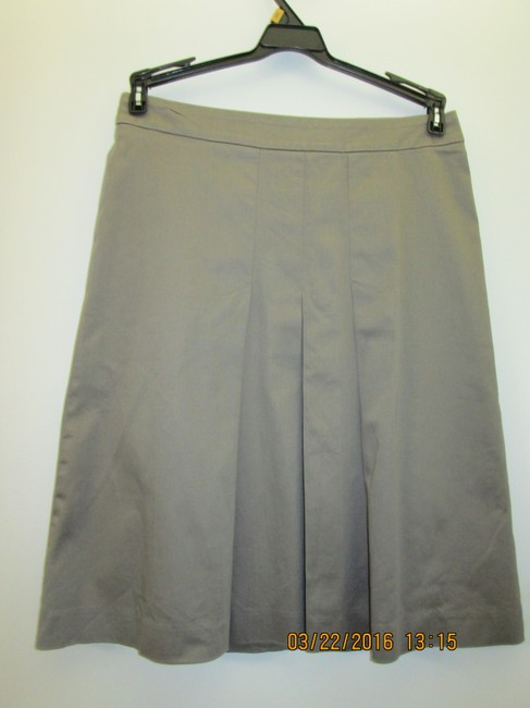 Zara Made In Spain A Line Pleated Skirt grey