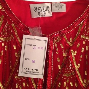Cervelle Red Beads red, gold Jacket