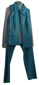 Bagatelle Leather 3 Piece Suit with Jacket and Pants - Teal