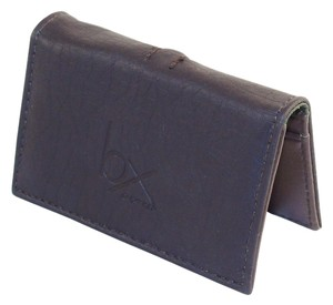 Buxton Buxton Business Card Wallet - Chocolate Brown, Faux Leather.