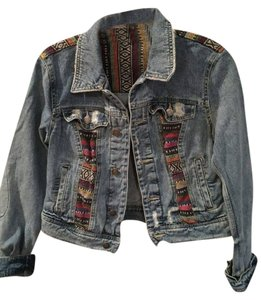 Free People Baja Jean Womens Jean Jacket