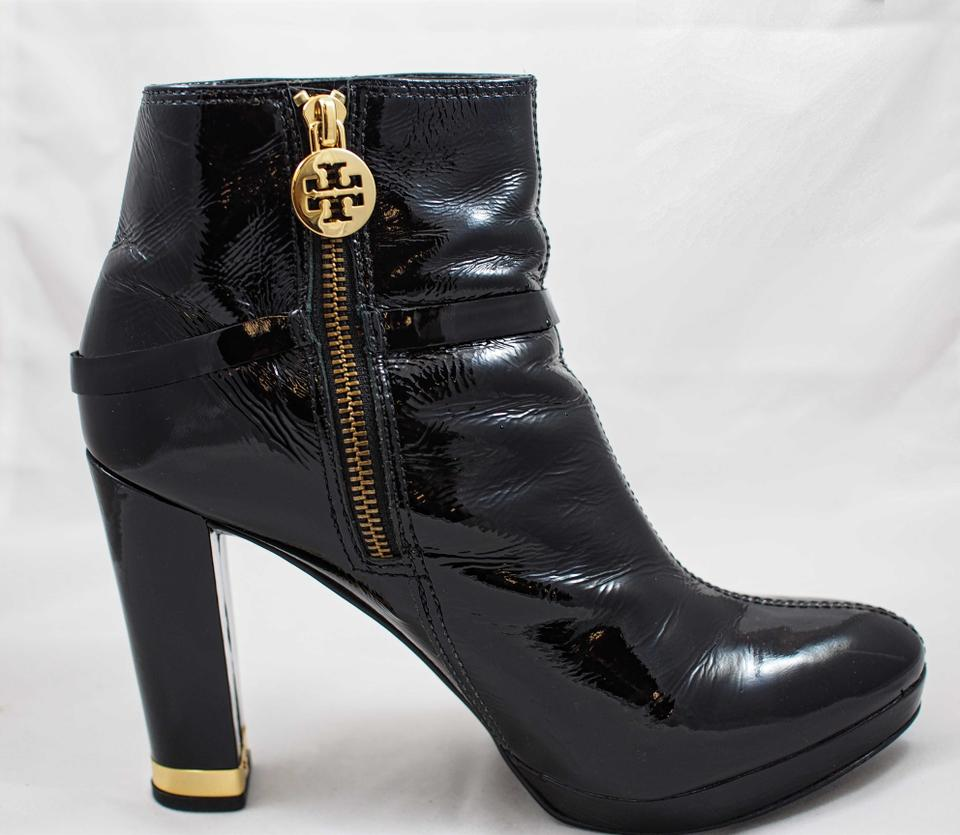 df3a57b182f1 Tory Burch Black Patent Whitney Boots Booties Size US 8.5 Regular (M ...