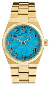 Michael Kors Michael Kors Channing MK5894 Gold Stainless Turquoise Dial Watch
