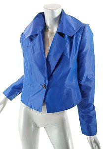 Pauw Amsterdam Crop Satin Royal Blue Blazer