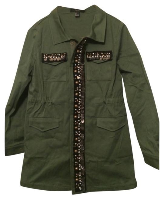 Preload https://item4.tradesy.com/images/forever-21-olive-green-miltary-jacket-size-petite-8-m-10255993-0-1.jpg?width=400&height=650