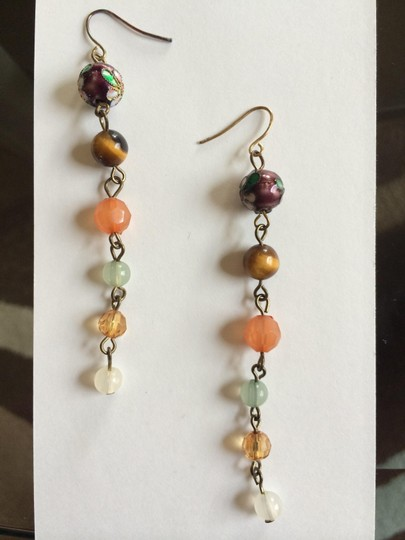 Other Multicolor Colorful Chandelier Earrings Vintage Style