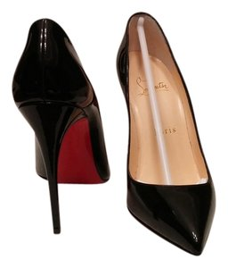 Christian Louboutin Patent Pigalle Follies Black Pumps