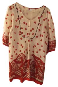 We are vera Anthropologie Red Tunic