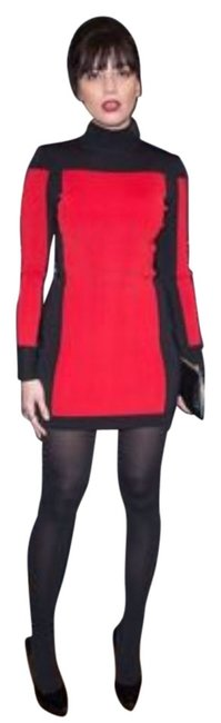 Item - Red and Black Mini Night Out Dress Size 4 (S)