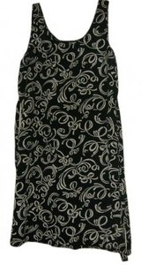 Awesome Wear short dress black with beige design on Tradesy