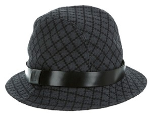 Gucci Grey, black monogram Gucci canvas Diamante bucket hat L Large New