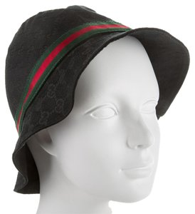 Gucci Black Guccissima monogram Gucci canvas bucket hat New