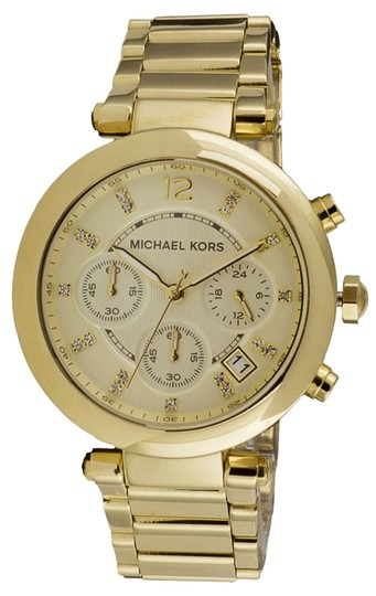 Preload https://img-static.tradesy.com/item/10258297/michael-kors-gold-mk5276-women-s-parker-tone-bracelet-new-watch-0-1-540-540.jpg
