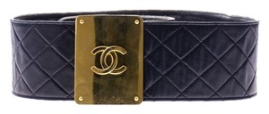 Chanel Chanel Blue Quilted Lambskin Leather Belt