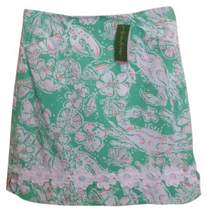 Lilly Pulitzer Skirt Glenda Green, Beach Bash