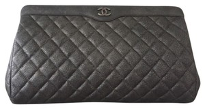 Chanel Silver Grey Clutch
