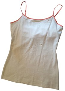 Express Best Loved Cami Cami Top Cream with Coral Trim