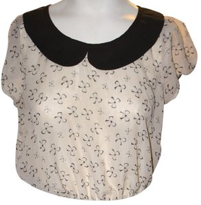 LOVE SCENE Top BEIGE AND BLACK
