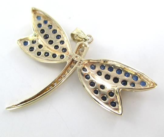 Other 14K YELLOW GOLD PENDANT DRAGONFLY BUTTERFLY 9 DIAMONDS .25 CARAT 6.6 GRAMS JEWEL