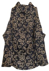 Carmen Marc Valvo Beaded Top Black & Gold