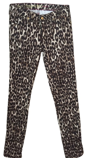 Item - Brown Coated Leopard Cheetah Skinny Jeans Size 27 (4, S)