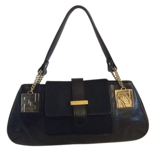 Preload https://img-static.tradesy.com/item/10259659/fendi-monogram-hand-black-leather-shoulder-bag-0-1-540-540.jpg