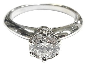 Tiffany & Co. THE TIFFANY SETTING 0.89 Ct DIAMOND SOLITAIRE PLATINUM RING SIZE 5.3/4