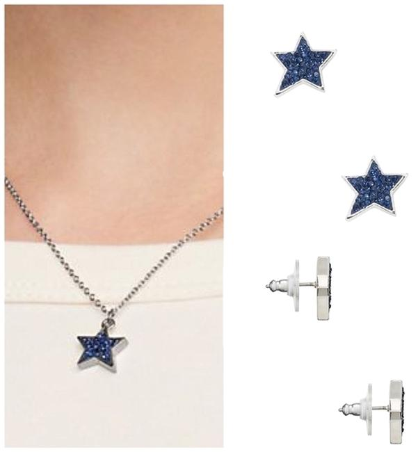 Item - Silver Blue Box New 'twinkle Twinkle' Star Earrings and Pendant Necklace Set Gift Included