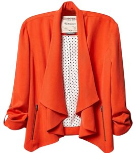 Anthropologie Layer Travel Breezy Orange Jacket