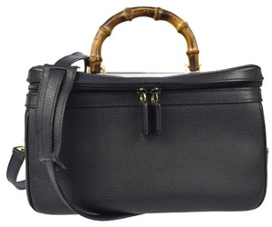 Gucci Leather Handbag Satchel in Black