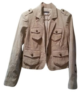 Boston Proper Blazer Military Beige Coat Military Jacket