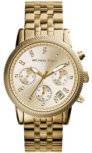 Michael Kors Michael Kors MK5676 Women's Chronograph Ritz Gold tone Bracelet Watch NEW! $250