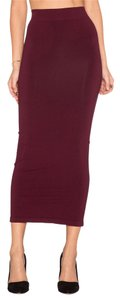 Torn by Ronny Kobo Skirt Burgundy