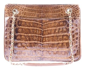 Chanel Crocodile Leather Vintage Shoulder Bag