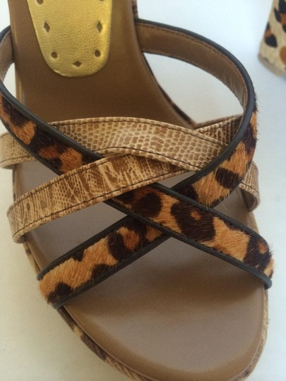 BCBGeneration Leather Cheetah Wedges