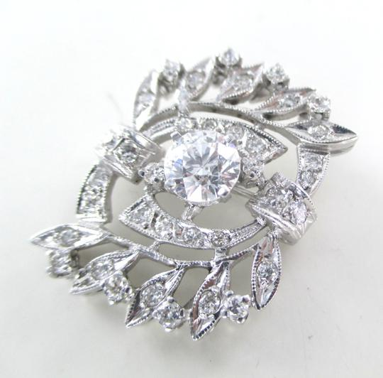 Other 14K WHITE GOLD 35 DIAMONDS 1.59 CARAT 6.6 GRAMS FINE JEWELRY PIN BROOCH NO SCRAP