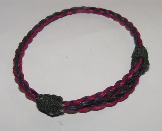 Pink/Purple Bogo Free Hitched Horse Hair Necklace Bracelet Free Shipping Jewelry Set