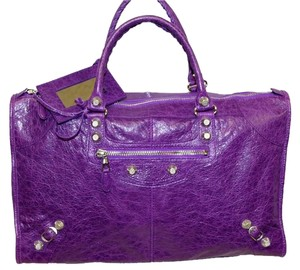 Balenciaga Work Satchel in Ultraviolet