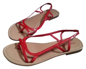 Classified Red and Tan Sandals