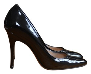 Manolo Blahnik Patent Leather High Heels Black Patent Pumps