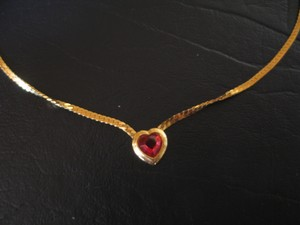 Red Heart encased in Gold Frame - 18