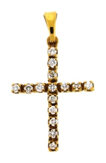 Preload https://item2.tradesy.com/images/yellow-gold-steal-18k-14-diamond-cross-pendant-necklace-10261996-0-1.jpg?width=440&height=440