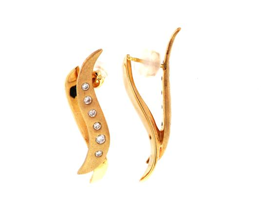 Other MUST SEE - STEAL 14k gold & diamond flush-set matte earrings from a high end retail store