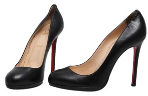 Christian Louboutin Red Leather Classic Black Pumps