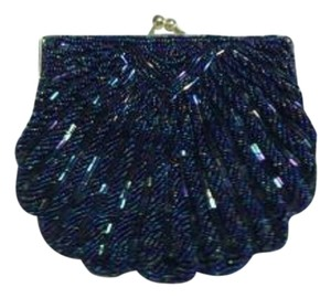 Beaded Evening Midnight Blue Clutch