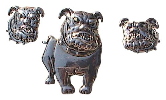 Preload https://img-static.tradesy.com/item/10262707/silver-tone-bulldog-brooch-and-clip-on-set-162-earrings-0-1-540-540.jpg
