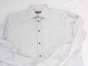Dolce&Gabbana Men White Stripe Cotton Shirt