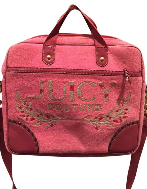 Item - Pink Terry and Leather Laptop Bag